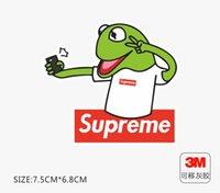 kurbağa araba çıkartmaları toptan satış-Sup kurbağa bavul etiket kişilik popüler logo dizüstü kaykay gitar buzdolabı araba su geçirmez 3 M sticker Çıkarılabilir tutkal küçük