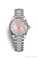 montres mécaniques vintage achat en gros de-2019 Qualité Montres Maker Vintage Femme rose couleur 31mm dat Asia Movement montre mécanique pour dames