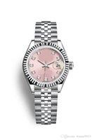 relojes mecánicos de época al por mayor-2019 relojes de calidad Maker Vintage mujer color rosa 31 mm dat Asia movimiento automático mecánico reloj de dama