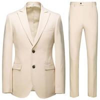 esmoquin gris oscuro novio al por mayor-Nueva moda guapo gris oscuro traje para hombre traje de novio trajes de boda para los mejores hombres Slim Fit Groom Tuxedos para hombre (chaqueta + pantalón) J1906179