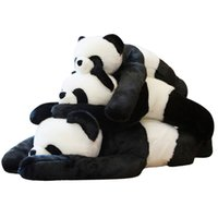 Wholesale toy black bear for sale - Group buy quality soft panda plush toy shoulder panda doll cute black white hug bear toys for children adults gift deco inch cm DY50576