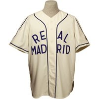 Wholesale ship jersey real madrid resale online - Real Madrid ca Home Jersey Stitched Embroidery Logos Vintage Baseball Jerseys Custom Any Name Any Number