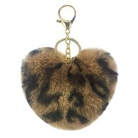 Wholesale Soft Fur Ball Lovely Gold Metal Key Chain Rabbit Fur Ball Keychain Car Keyring Bag Earrings Accessories
