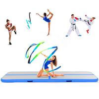anti-rutsch-strecke großhandel-Freies Verschiffen 2 * 1 * 0.2m aufblasbare Luftkissenbahn taumelnde Gymnastik / Yoga / Taekwondo / Wasserschwimm / Camping faltbare Ausbildung Anti-Rutsch-Matte
