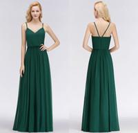 фотографии дизайнеров невесты оптовых-Реальные фотографии 2018 новый дизайнер изумрудно-зеленый длинные платья невесты бретельках длина пола на заказ свадебные платья BM0032