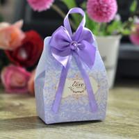 schoko-box dekorativ großhandel-Hochzeit Süßigkeitskästen Geschenke Gefälligkeiten Souvenirs Schokolade Papier Box gefallen Wrap Inhaber Party Taschen dekorative Lieferungen Dekor Dekoration