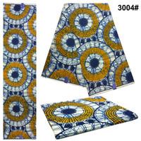 tela yd al por mayor-Novedades Cera Africana Tela Ankara Diseños Kente Ghana Tela Kente Real Impresiones de cera 6 Yds Cera de poliéster más vendida