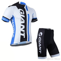 Wholesale Giant Team Cycling Short Sleeves Jersey Bib Shorts Sets Bicycle Summer Breathable Lycra Sport Wear Clothes Bicycle Ropa Ciclismo C1518