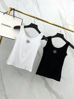 logo avrupalı toptan satış-Avrupa Amerikan sokak seksi lüks gece kulübü kadınlar yelek rahat kısa nefes göğüs logosu nakış ince iç çamaşırı yelekler