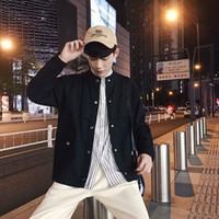искусство хун оптовых-Photo Shoot Aberdeen Autumn BF Hong Kong стиль пальто мужские в японском стиле ретро Harajuku Ветер Hipster Литература и искусство Сыпучие-Fi