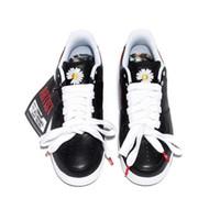 sapatos coreanos venda por atacado-Melhor autêntica Air 1Force 1 Low G-Dragon Peaceminusone Para-Noise Vermelho esportivo ARTISTA Coreia exclusivo Black White AQ3692-001 Homens Running Shoes