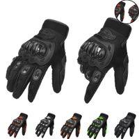 guantes de protección de verano al por mayor-Para la protección de la mano de la motocicleta Mitten Ciclismo Guantes de medio dedo Guantes de moto Motocross Unisex Guantes de moto de verano moto