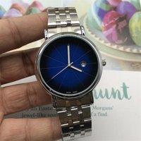 счастливые часы оптовых-2019 новый 3А автоматические кварцевые часы мужские часы водонепроницаемые мода простой календарь 316L прецизионная сталь ремешок для часов наручные часы повезло колесо