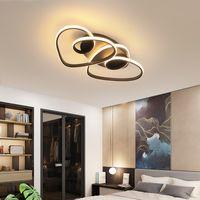 oscurecimiento de la lámpara al por mayor-VeiHao Negro Moderno LED de la lámpara caliente romántica Sala Dormitorio Cocina chica cuerpo de aluminio que amortigua la iluminación casera Lampara