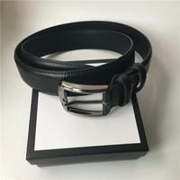 Wholesale casual genuine belts for sale - Group buy 3 cm Width Mens Belt Big Buckle Women Fashion Belts High Quality Genuine Leather Waist Belts