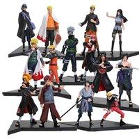 boneca japonesa venda por atacado-Novo 2 pçs / set PVC Anime Japonês Figuras Naruto Dolls Uchiha Sasuke + Uchiha Itachi Jogo Naruto Shippuden Action Figure Toy