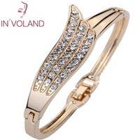 ingrosso bande di braccialetto-Braccialetto casuale del braccialetto 6cm di Hasp del Rhinestone vuoto delle donne come immagine