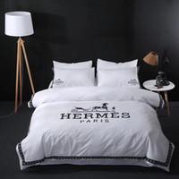 ingrosso borsa in seta-Completo di biancheria da letto in cotone con ricamo a 3 colori