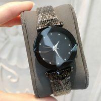 marca relógios diamantes venda por atacado-2019 top marca de luxo relógio das mulheres designer de preto relógios de diamantes de alta qualidade por atacado mulheres lady dress rose relógio de ouro reloj mujer de quartzo