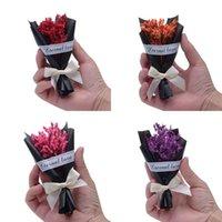 buquês de amor venda por atacado-Novo Estilo Cor Amor Bowknot Bouquet Exquisite Adereços Foto Flor Artificial DIY Flores Secas Perfume Acessórios 2 5xf Ww