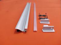 ingrosso striscia in lega di alluminio-Diffusore opalino a led flessibile flessibile a parete in alluminio estruso da 10 mm con profilo in lega di alluminio a parete