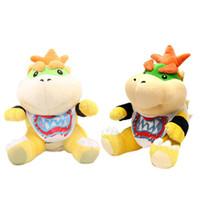 детские игрушки для мальчиков оптовых-Super Mario Brothers Bowser JR плюшевые игрушки Куклы 6 дюймов плюшевые дети новые Brothers Bowser JR мягкие плюшевые игрушки 15 см Буш 15 см игрушки B