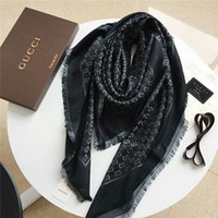 Wholesale wool silk pashmina scarf shawl for sale - Group buy beautiful and elegant women autumn and winter wool and silk scarf monogram design scarf shawl size cm without box