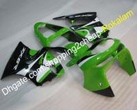 ingrosso kawasaki zx6r 1998 carena bianca-ZX-6R 98-99 ZX 6R kit carene ABS per carene Kawasaki ZX6R 1998 1999 carenature moto verde bianco nero carrozzeria