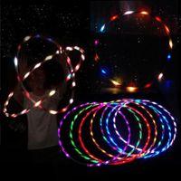 kinder hula hoops großhandel-90cm LED Glow Hula Hoop Performance Hoop Sportspielzeug Loose Weight Toy Kinder Kind
