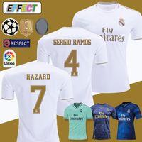 fußballhemden xl großhandel-2019 Real Madrid Soccer Jerseys HAZARD Trikots 19/20 Heim Weiß Kit MODRIC MARCELO 2020 KROOS ISCO BALE Kinder Fußball Trikots