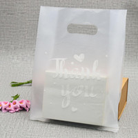Wholesale wedding plastic bags resale online - 100pcs Translucent plastic bags Thank You plastic bags wedding party favor retail bags for boxes XD23023