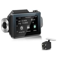 çift araba çizgi kameraları toptan satış-3 '' Dokunmatik Ekran Dash Cam 1080P HD Araba DVR Kamera 3G Gizli Wifi Çift Lens IPS