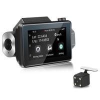 двойной автомобильный dvr wifi оптовых-3 '' IPS сенсорный экран тире Cam 1080P HD Автомобильный видеорегистратор камеры 3G Hidden WiFi Dual Lens