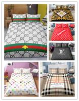 ingrosso bedding-3D Fashion Bedding set logo Copripiumino stampato con federe