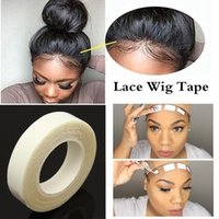 Wholesale hair glue online - 5Roll Wig Tape m Roll Salon Sticky Long Lasting Waterproof Hair Extension Adhesive Double Sided Tape Lace Glue Tape for Weft Wig no W