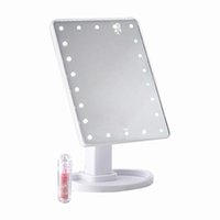 Wholesale 22 LED Light Press Screen Makeup Mirror Desktop Bright Adjustable Makeup Mirror Desktop Table Lamp Rotatable Ind