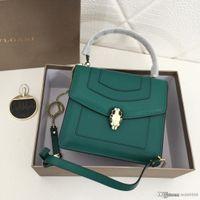 schlange farbe handtasche groihandel-High-End-neue Damenhandtasche Schlangenkopfdekoration kann sechs-Farben optional Leder Damen Designer-Tasche Nummer geschultert werden: 6474.