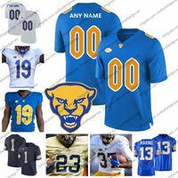 nuevas camisetas de marca al por mayor-Custom NCAA Pittsburgh Panthers Nueva marca Jersey de fútbol Cualquier nombre Número 24 CONNER # 13 Dan Marino 97 Aaron Donald 12 P.Ford PITT S-3XL