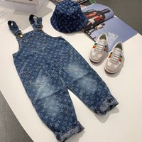 Wholesale baby girl blue jeans for sale - Group buy new children jeans boys pants denim trousers baby jeans overalls pants jeans for girl clothes