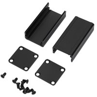 ingrosso recinzione contenitore di alluminio-Recinzione di alluminio nera 25X25X50Mm Progetto Box strumento PCB Shell di raffreddamento per i prodotti elettronici di alimentazione mobile