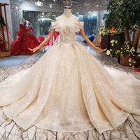 Wholesale glitter shiny dresses resale online - Sexy Shiny Wedding Dresses With Glitter Simple Off The Shoulder Sweetheart Wedding Gown Newest Sparkly Design Croatia