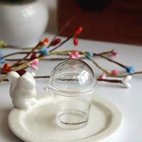 Wholesale mousse cups resale online - Tiramisu Mousse Round Cup Plastic Fake Sawdust Cup Box with Cover Plastic Artificial Parfait Ice Cream Cups Round French mini DIY Deco Parts