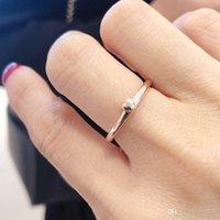 925 niedlicher herzring großhandel-NEUE Nette Kleine herzförmige Band Ringe Für Pandora 925 Sterling Silber 14 Karat Roségold Mode Ring mit Original Box