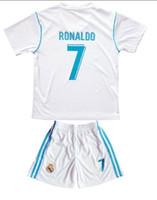 ronaldo белая майка шорты оптовых-17-18 Madrid Home White Kids 7 Трикотажные изделия Ronaldo, Детские футбольные комплекты, Трикотажные изделия с шортами,