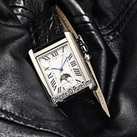 Wholesale cool mens watch leather for sale - Group buy New Super Solo mm Steel Case White Dial Automatic Moon Phase Roma Mark Mens Watch Black Leahter Sports Watches Colors Cool CART B40a1