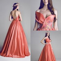 Wholesale long taffeta dress royal blue resale online - 2020 Long Celebrity Dresses Sweetheart Sleeveless with Appliques Sexy Backless Red Carpet Formal Prom Party Gowns