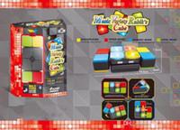 tipos de instrumentos de percussão venda por atacado-2018 New music magic cube puzzle brinquedos luz que emite som máquina de jogo de cubo mágica interação de pai-criança