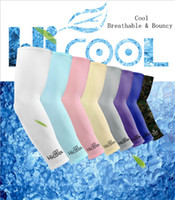 Wholesale coolest bike resale online - Cooling Arm Sleeves Cover UV Sun Protection Golf Bike Outdoor Sports Riding Cycling UV Protection Sleeves Arm Warmer MMA1918