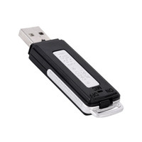 ingrosso penne di registrazione audio-Portable 2 in 1 USB Pen Drive Flash Disk Digital Audio Voice Recorder Mini Registrazione 70 ore Registratore per registratori di alta qualità