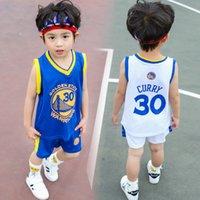 dois meninos garotos venda por atacado-Varejo Crianças treino de basquete meninos meninas 30 conjuntos de calções de bola ternos do bebê de duas peças conjunto de correspondência conjuntos de roupas de crianças roupas de grife